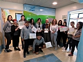 Hadera High School students give a moving gift to patients in the Pediatrics Department